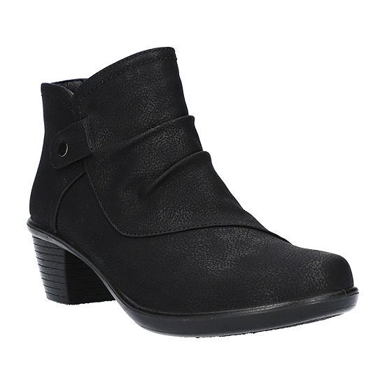 Easy Street Womens Cooper Booties Block Heel