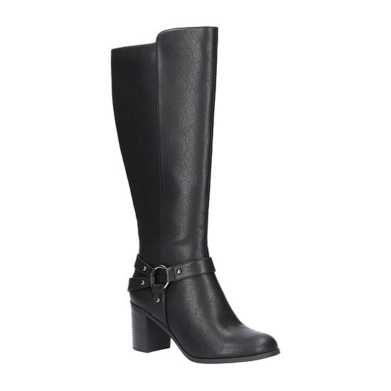 Easy Street Womens Franconia Plus Block Heel Riding Boots