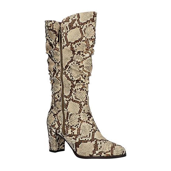 Easy Street Womens Mara Slouch Boots Block Heel