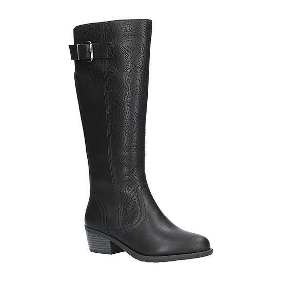 Easy Street Womens Arwen Plus Block Heel Riding Boots