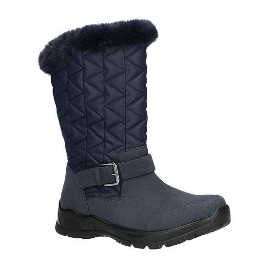 Easy Street Womens Boulder Waterproof Winter Flat Heel Boots