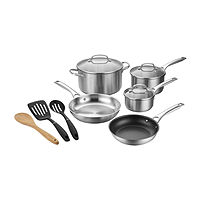 Cuisinart 11-Pieces Stainless Steel Dishwasher Safe Non-Stick Cookware Set