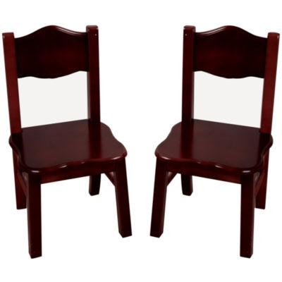 Guidecraft Classic Espresso Set of 2 Chairs