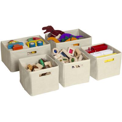 Guidecraft Tan 5-pc. Storage Bins
