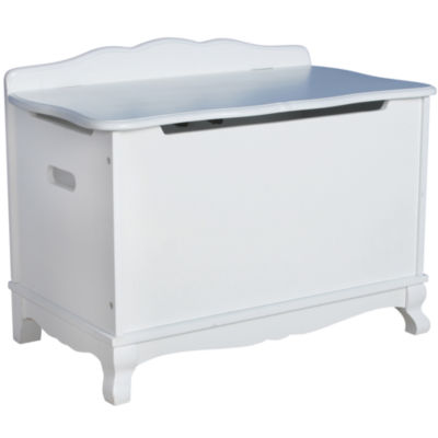 Guidecraft Classic White Toy Box