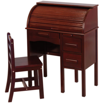 Guidecraft Jr. Roll-Top Desk & Chair - Espresso