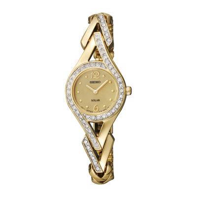 Seiko Womens Gold Tone Bracelet Watch-Sup176