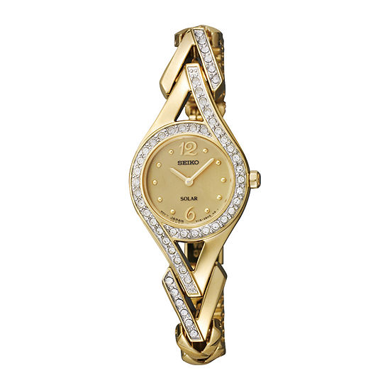 Seiko Womens Gold Tone Stainless Steel Bracelet Watch-Sup176