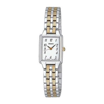 Seiko® Womens Two-Tone Stainless Steel Bracelet Watch SXGL61