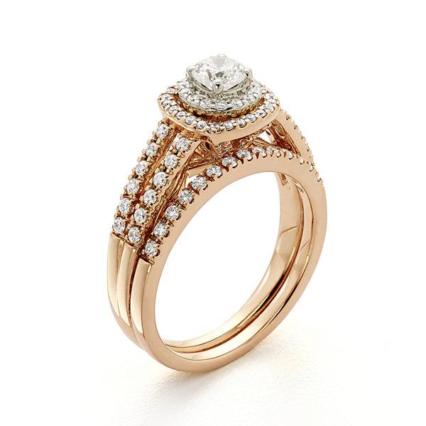 Modern Bride Signature 1 CT TW Certified Diamond 14K Rose