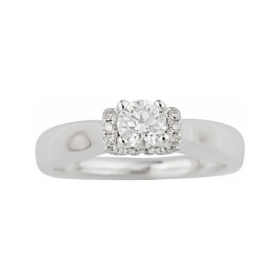 True Love, Celebrate Romance® 1/2 CT. T.W. Certified Diamond Solitaire Plus Ring