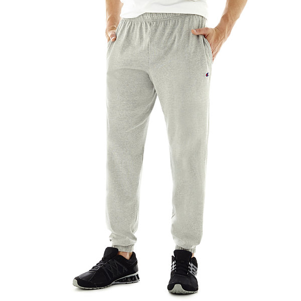 Champion Mens Closed-Bottom Jersey Pants