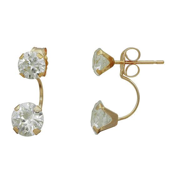 14K Gold Cubic Zirconia Earring Jackets