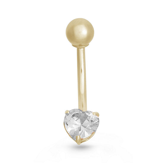 10K Yellow Gold Cubic Zirconia Belly Ring