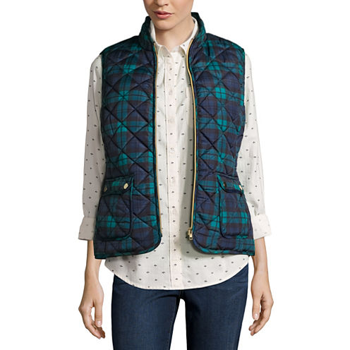 St. John's Bay® Quilted Puffer Vest