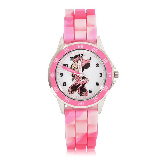 Disney Minnie Mouse Girls Digital Pink Strap Watch-Mnh9000jc