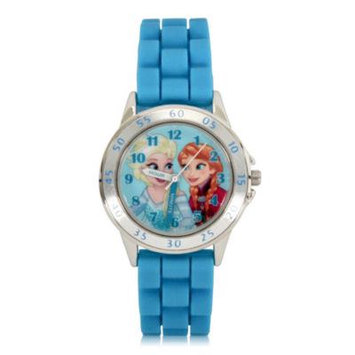 Disney's Frozen Unisex Blue Strap Watch-Fzn9012jc