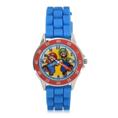 Super Mario Holiday 2018 Super Mario Unisex Blue Strap Watch-Gsm9005jc