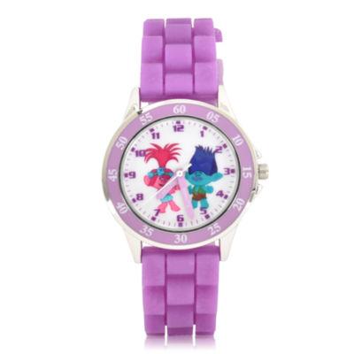 Trolls Holiday 2018 Unisex Purple Strap Watch-Tro9017jc