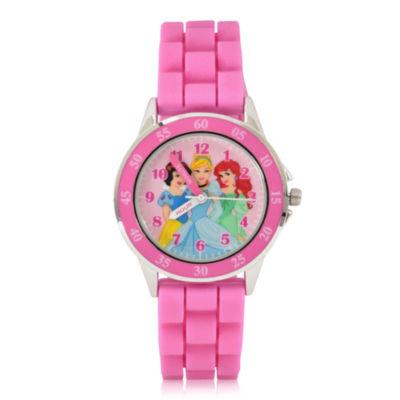 Disney Princess Holiday 2018 Disney Princess Unisex Pink Strap Watch-Pn9024jc