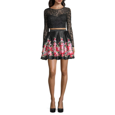 Haute Nites Long Sleeve 2-piece Party Dress - Juniors
