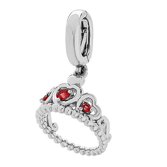 PS Personal Style Simulated Ruby Sterling Silver Charm
