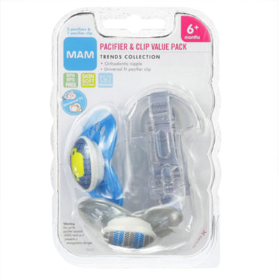 Mam Baby 3-pc. Pacifier & Clip Value Pack - Boy