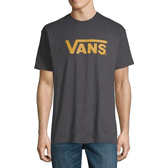Vans Mens Crew Neck Short Sleeve Logo Graphic T-Shirt