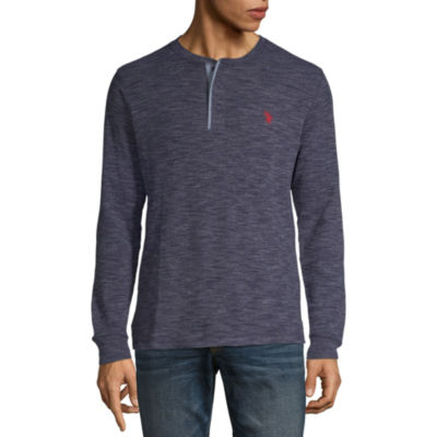 U.S. Polo Assn. Mens Henley Neck Long Sleeve Thermal Top