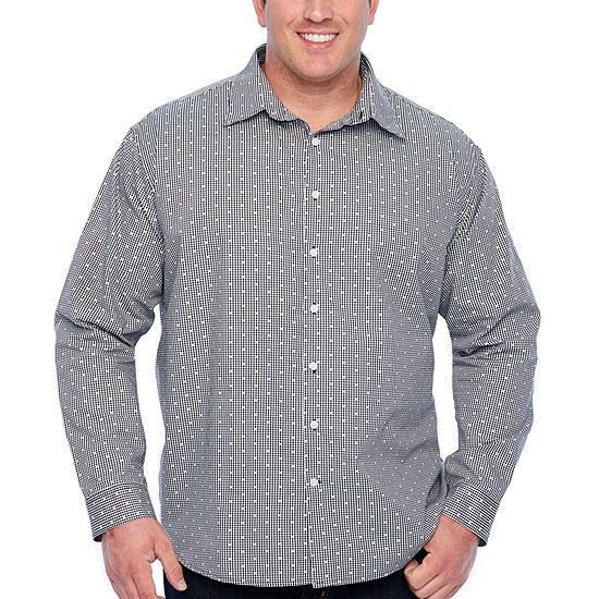 Claiborne Big and Tall Mens Long Sleeve Button-Front Shirt