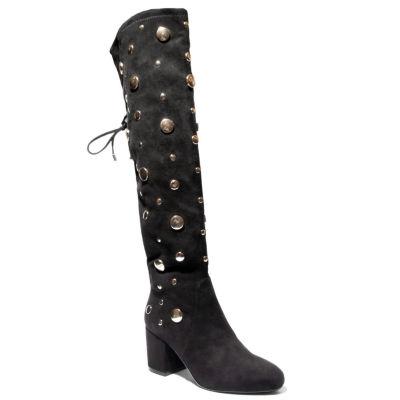 2 Lips Too Womens Lucia Dress Boots Block Heel Zip