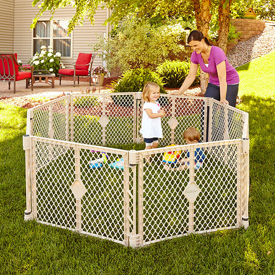 North States In-Out Sand 8-Panel Play Yard