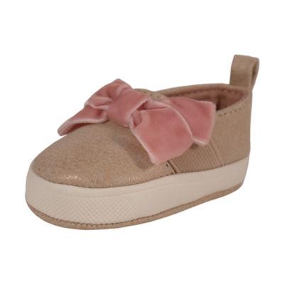 Okie Dokie Suede Bow Slip-On Shoe - Baby Girl