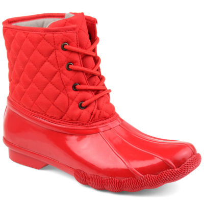 Journee Collection Womens Chill Water Resistant Snow Block Heel Lace-up Boots