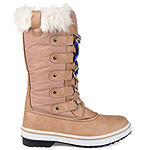 Journee Collection Womens Frost Water Resistant Block Heel Lace-up Snow Boots