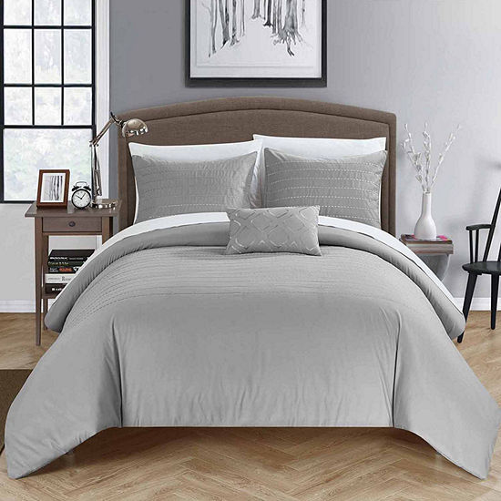 Chic Home Bea 8-pc. Embroidered Duvet Cover Set