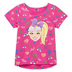 Jojo Siwa Girls Round Neck Short Sleeve Graphic T-Shirt - Preschool / Big Kid