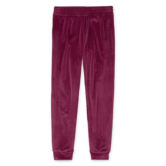 Xersion Girls Velour Cuffed Jogger Pant - Preschool / Big Kid