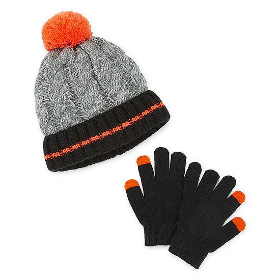 Arizona Fall/Winter Accessories Boys 2-pc. Striped Cold Weather Set Preschool / Big Kid