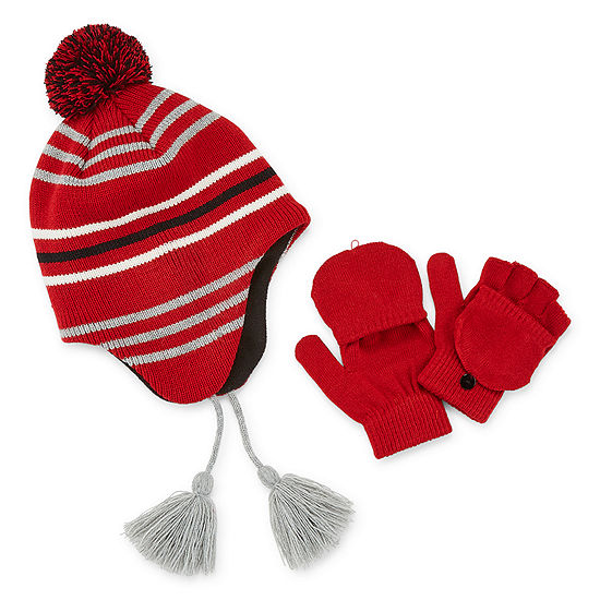 Weatherproof Fall/Winter Accessories Little Kid / Big Kid Boys 2-pc. Striped Cold Weather Set