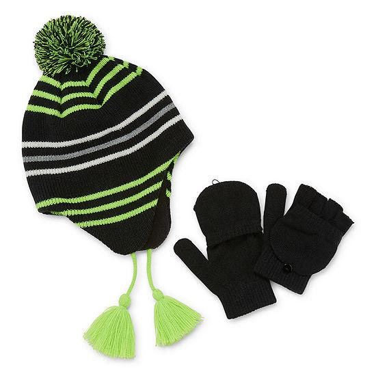 Weatherproof Fall/Winter Accessories Boys 2-pc. Striped Cold Weather Set Preschool / Big Kid