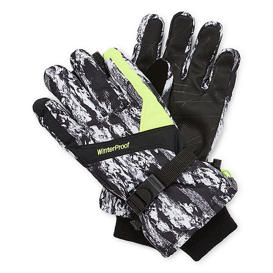 WinterProof® Graphic Print Neon Ski Gloves