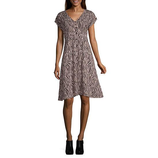 Society And Stitch Short Sleeve Maxi Dress-Juniors