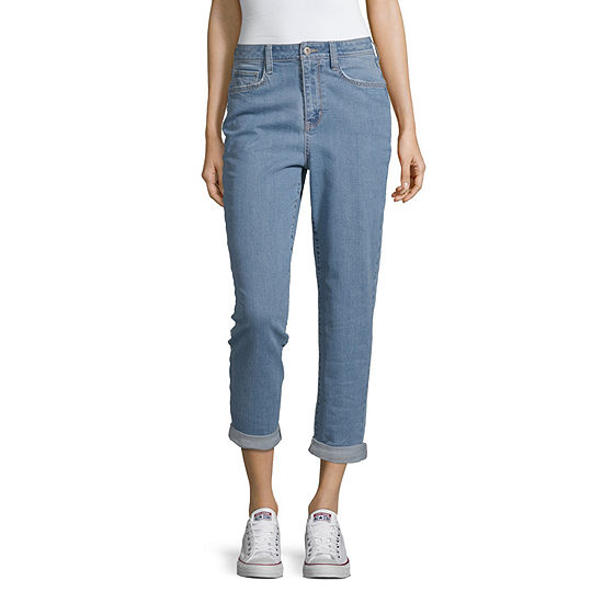 Arizona Womens Cuffed Relaxed Fit Jean - Juniors