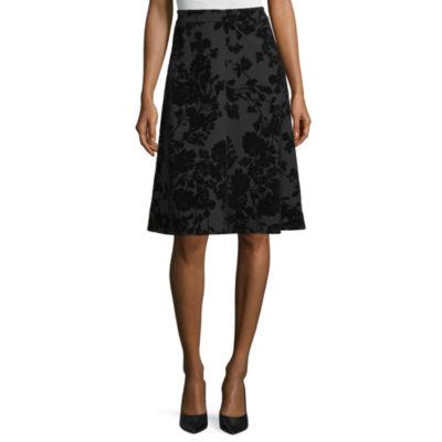 Liz Claiborne Womens Midi A-Line Skirt