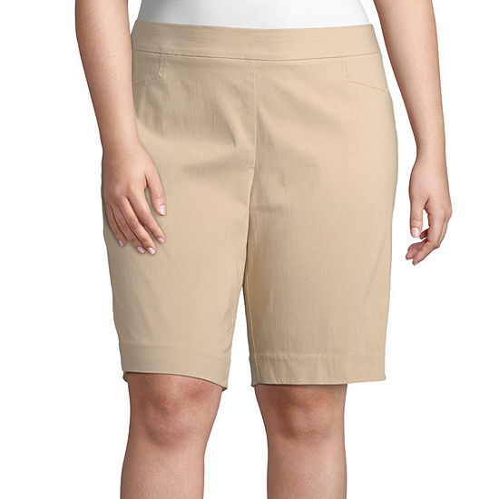 "St. John's Bay Womens Mid Rise 10"" Bermuda Short-Plus"