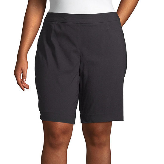"St. John's Bay Womens Mid Rise 10"" Bermuda Short-Plus"