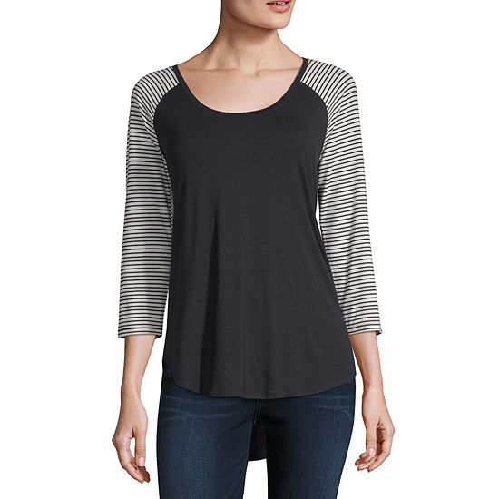 a.n.a-Womens Scoop Neck 3/4 Sleeve T-Shirt