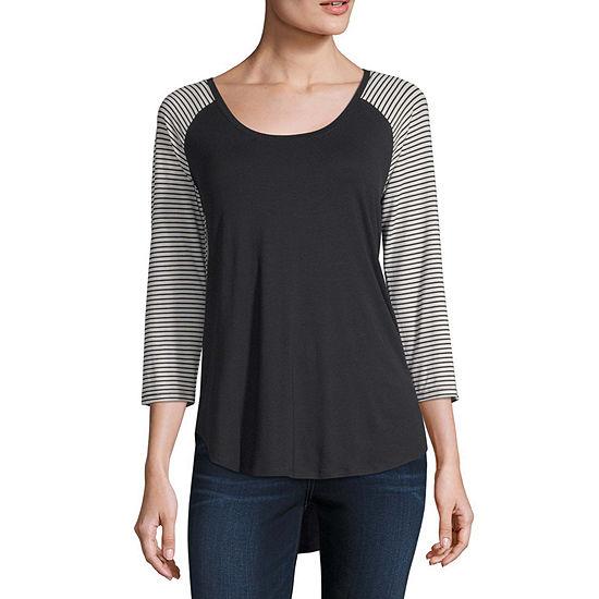 a.n.a Womens Scoop Neck 3/4 Sleeve T-Shirt