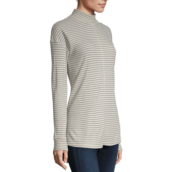 a.n.a Womens Crew Neck Long Sleeve Tunic Top